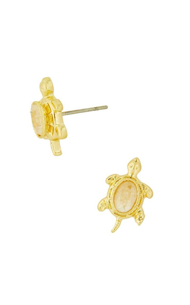 Lilly Pulitzer Slow Poke Earring  Gold Metallic