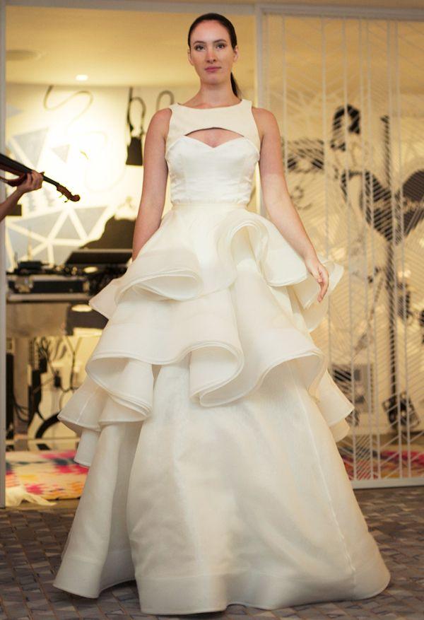 unique della giovanna spring 2014 wedding dress