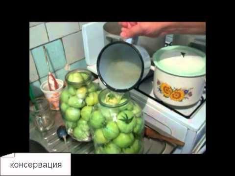 Как консервировать зеленые помидоры, Вкусный и простой рецепт заготовки на зиму. Подробнее на сайте http://elenka 2012.com/recepti/konservirovanie-zelenyih-p...