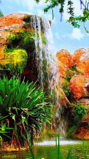 NATUREZA -Mar -Terra - GIFS: Cachoeira