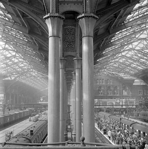 Liverpool Street Station, City of London, sometime between 1960-72. By John Gay / LONDON