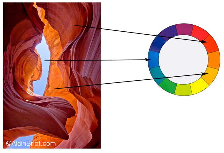 Antelope canyon and sky an example of a blue red split - Split complementary colors examples ...