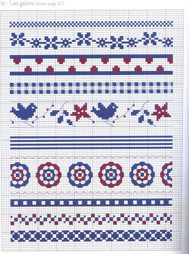 Blue and red borders