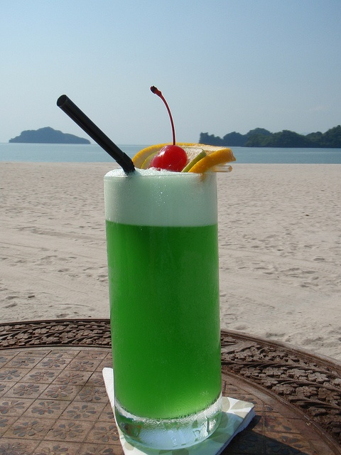 Staying green with a Midori Cooler. (Four Seasons Resort Langkawi, Malaysia)