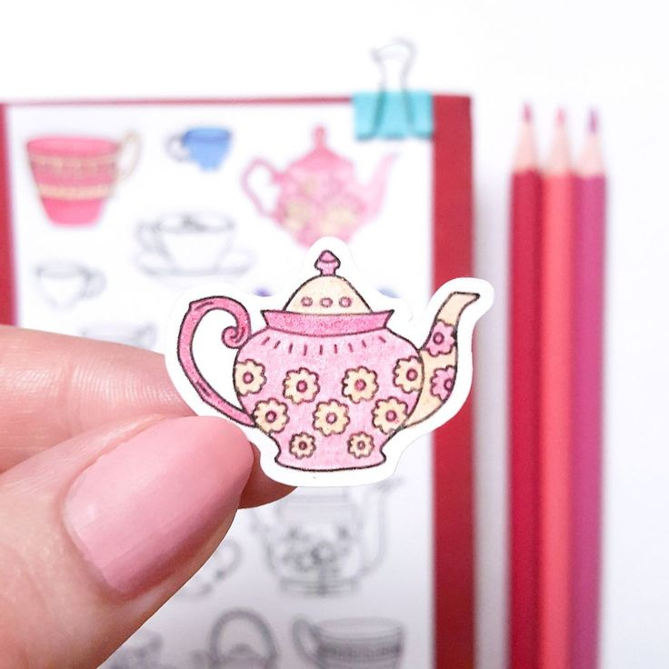 Coffee or tea?  Let me know what's your favorite in the comments.   #coffeeortea #coffeelover #tealover #vintageteapot #coloringstickers #adultcoloring #coloring #coloringbooksforadults #coloringpage #teapots #illustratorsofinstagram #handmadeoninsta #handmade100 #thrivertribe #goteamflourish #makeithappen #hungryforillustration #coloredpencils