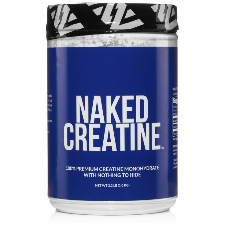 Always NakedNaked Creatine is the highest grade, fastest dissolving, and rapidly absorbed creatine monohydrate available. Studies have shown that creatine monohydrate supplementation enhances gains in maximal strength, repetitions under sub-maximal load, delays the onset of fatigue, and increases the body's overall training capacity.*Don't let labels and big agribusiness fool you; additives are for their bottom line, not your health.The Naked Difference:• Only One Ingredient: Pure Creatine…