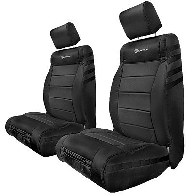 Trek Armor Front Seat Cover Pair in Black for 07-14 Jeep® Wrangler JK & JK Unlimited