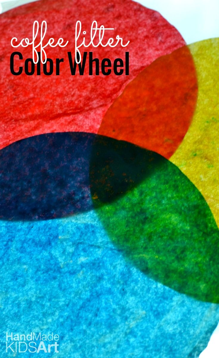 Make an easy coffee filter color wheel