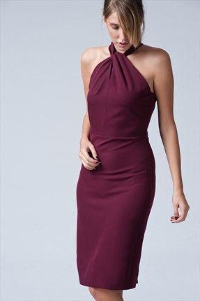 Mürdüm Elbise 5996-891 İroni | Trendyol
