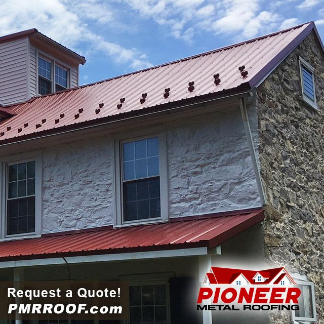 Re Roof Your House With Metal And Add Some Snow Guards Request A Free Quote Today Http Pioneermetalroofing Com P Metal Roof Metal Roofing Materials Roofing