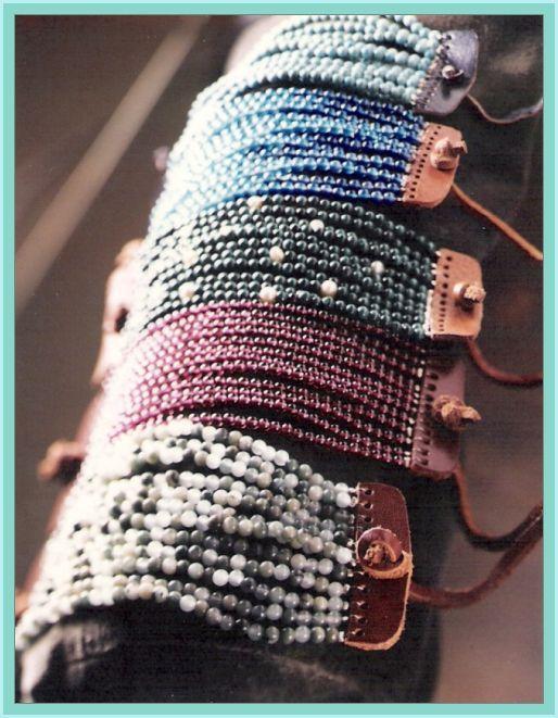 Pulseras puño de piedras preciosas - Gemstone cuff bracelets by My Peace & Love