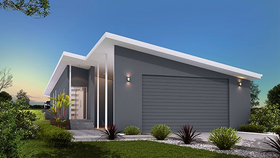 Narrow block facade design. This sharp, elegant design is perfect for blocks of land 10 meters wide or greater. Blocks are becoming narrower so a design such as the Cay is perfect.