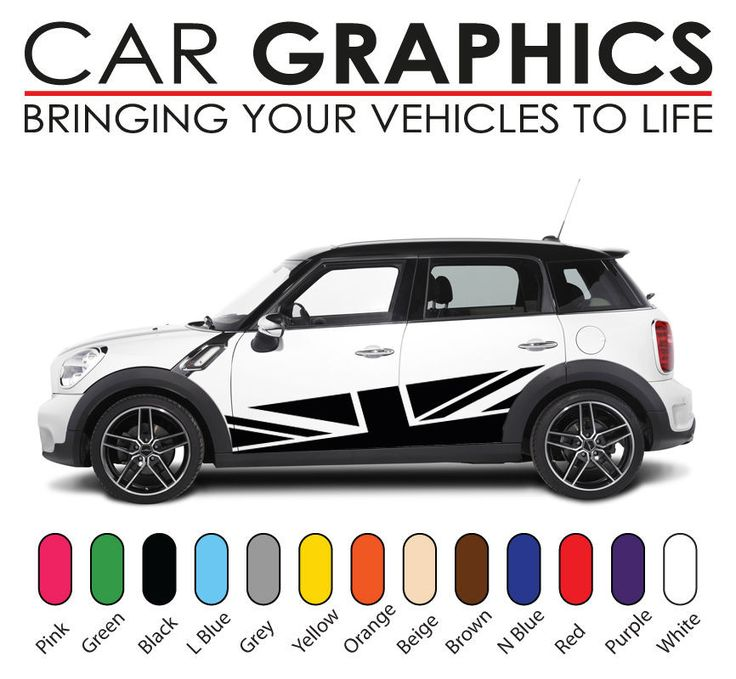 Mini cooper car graphics decals stickers vinyl design mn14