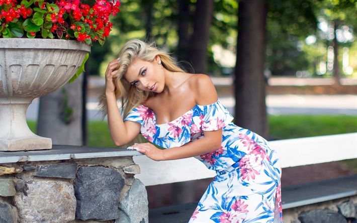 Download wallpapers Neesy Rizzo, photomodels, beauty, blonde