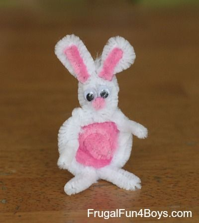 Pipe Cleaner Animal = Bunny