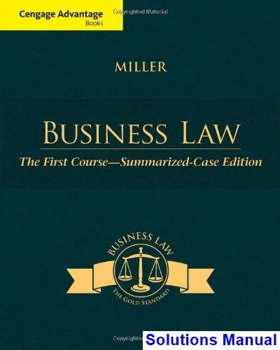 50 best solutions manual download images on pinterest cengage advantage books business law the first course summarized case edition 1st edition miller solutions manual fandeluxe Image collections