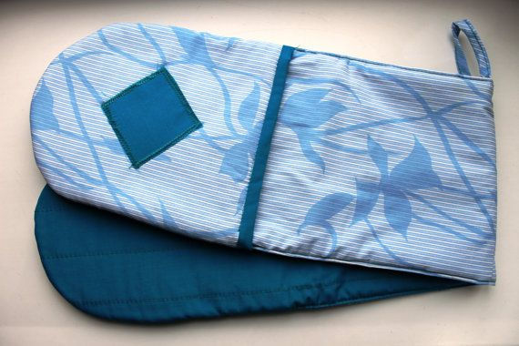Blue Oven Gloves  Best Double Oven Mitts One by TheBestPresent