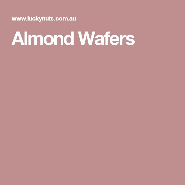 Almond Wafers