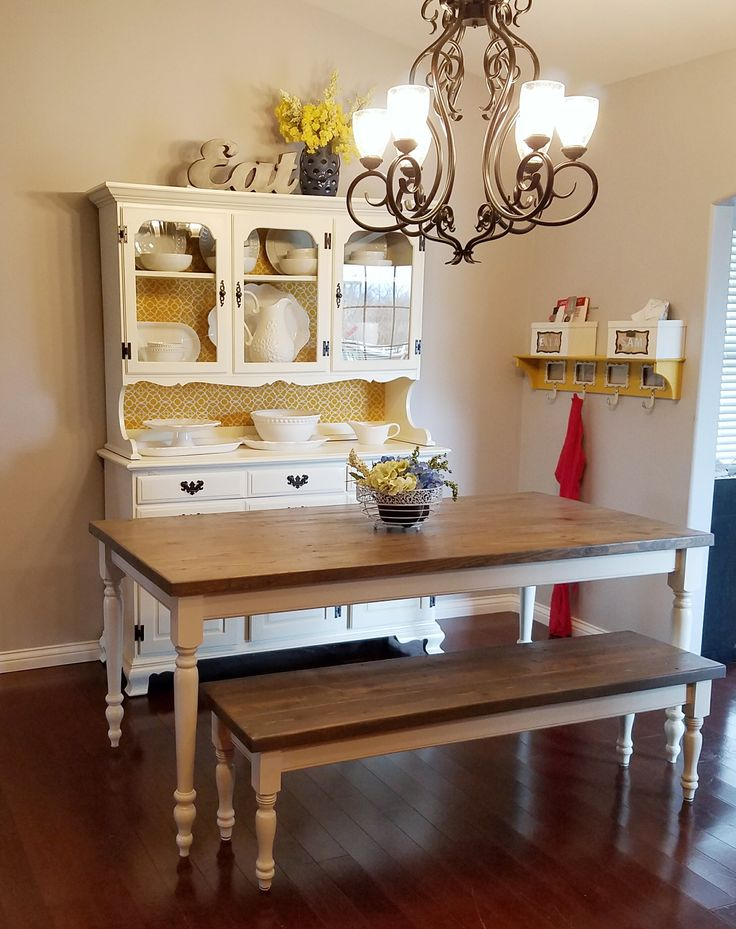 Farmhouse dining room Do It Yourself Home Projects from Ana White