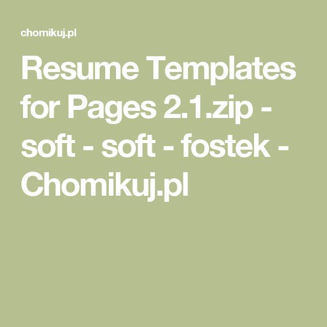 Resume Templates for Pages 2.1.zip - soft - soft - fostek - Chomikuj.pl