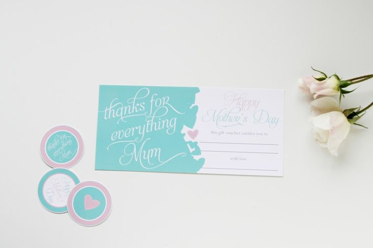 Mother's Day Printables - Gift Voucher