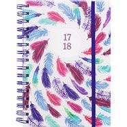 A5 Colourful Feather Academic Diary 17-18 - Day A Page