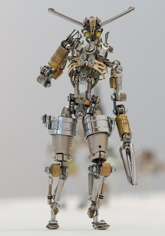 Robots Made From Tiny Spare Parts By Nagano Funnilogy