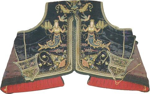 Rear view of a male vest from the island of Thasos (NE Aegean), early 20th century.