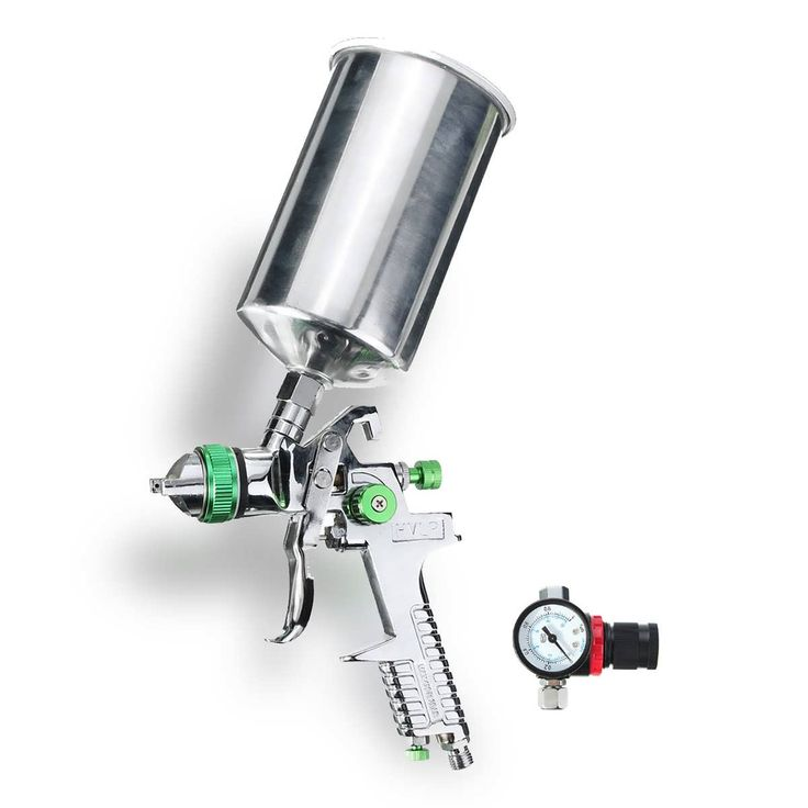 2.5mm 1L HVLP Gravity Feed Spray Gun Auto Paint Primer Metal Flake with Regulator  Worldwide delivery. Original best quality product for 70% of it's real price. Buying this product is extra profitable, because we have good production source. 1 day products dispatch from warehouse. Fast...