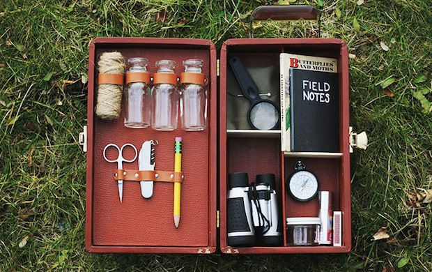 DIY Explorer Kit - for the adventurer. Could take the same idea for any hobbies friends like