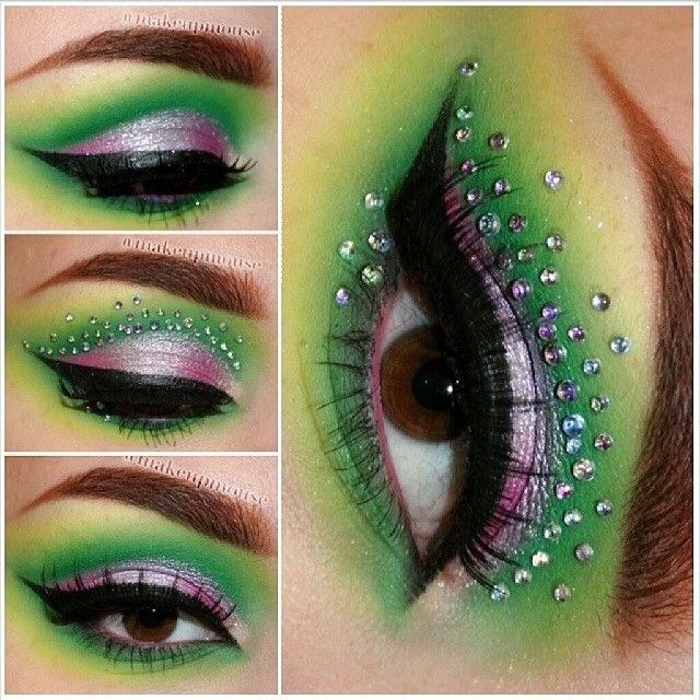 Fun and vibrant look by makeupmouse featuring Sugarpill Midori and Dollipop eyeshadows as well as Illamasqua Ltd