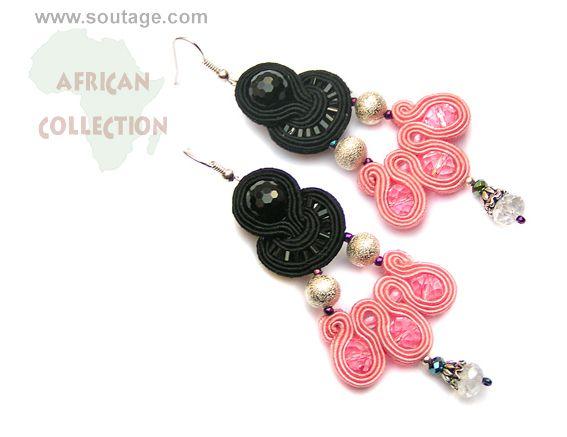 Guinea earrings by Sutasz-Anka http://www.soutage.com/2013/06/guinea-kolczyki.html