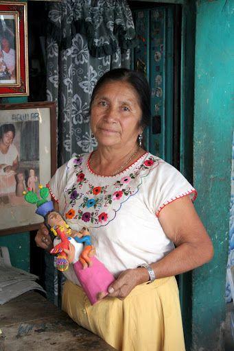 Oaxaca, indigenous ceramist woman