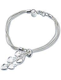 NYKKOLA New Fashion joyas Classic Lady mujeres pendientes de corazón 925colgantes de plata chapada en joyería