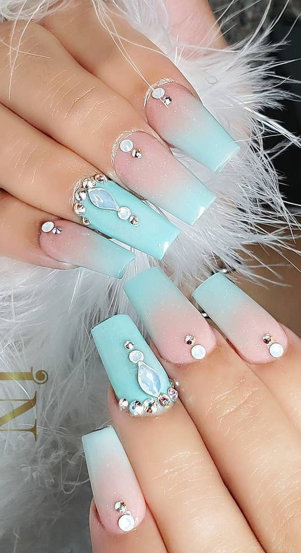 38 Creative Acrylic Nail Designs With Amazing Images Part 5 Acrylic Nail Shapes Acrylic Nail Designs Nail Designs