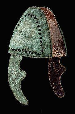 Mycenean bronze helmet, mid-11th century B.C. Tiryns. Archaeological Museum, Nauplion
