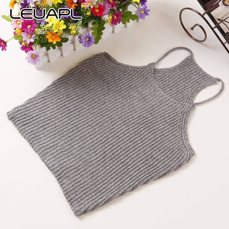 new fashion women knitted vest short design Camis Tank Tops Sleeveless sweater female sexy clothing pullover girls cotton tops