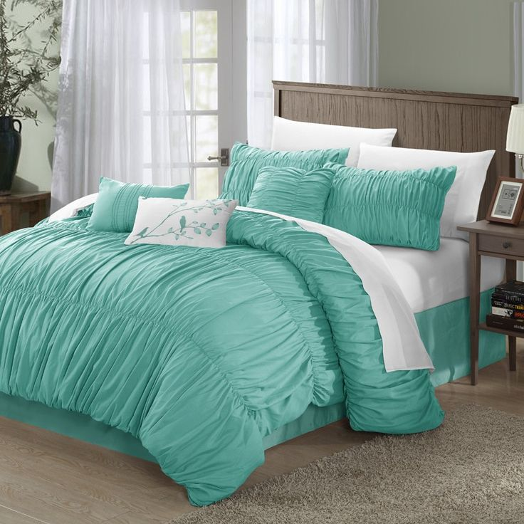 119 best bedding ideas images on pinterest peacock bedding teal and bedroom ideas. Black Bedroom Furniture Sets. Home Design Ideas