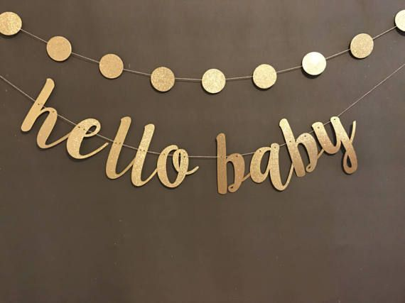 Oh Baby Banner Baby Shower Banner Black & Gold by UrEnvitedToo