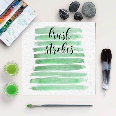 FREE WATERCOLOR BRUSH STROKES #brush #strokes #freebies #clipart #free #watercolor