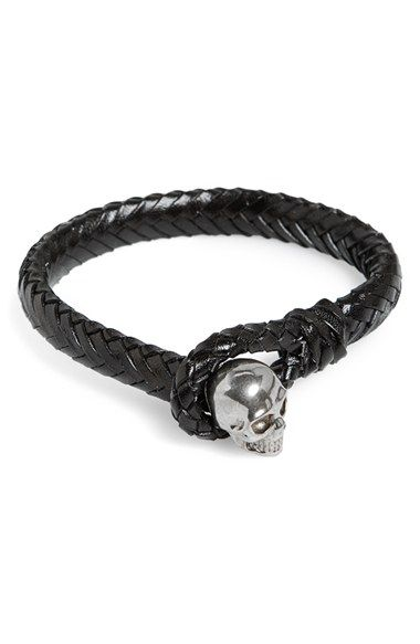 Alexander McQueen Braided Leather Bracelet available at #Nordstrom