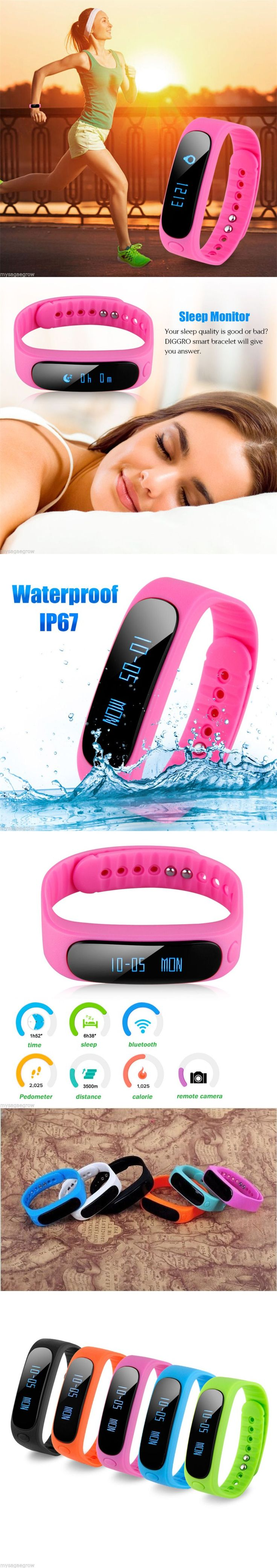 Waterproof Bluetooth 4.0 Smart watch Health Bracelet Fitness Tracker for iPhone
