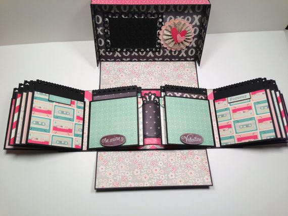#Papercraft #Scrapbook #Minialbum. Boxed Gatefold Mini Album Pattern with by PaperHoarderDisorder