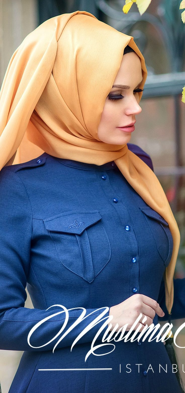 Muslima Wear 2016 Bouquet Navy blue Dress
