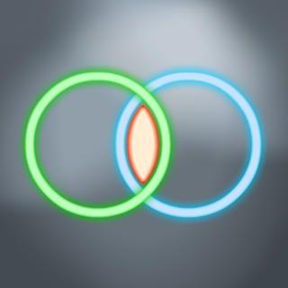 Venn Diagram - free. No more drawing crooked circles!