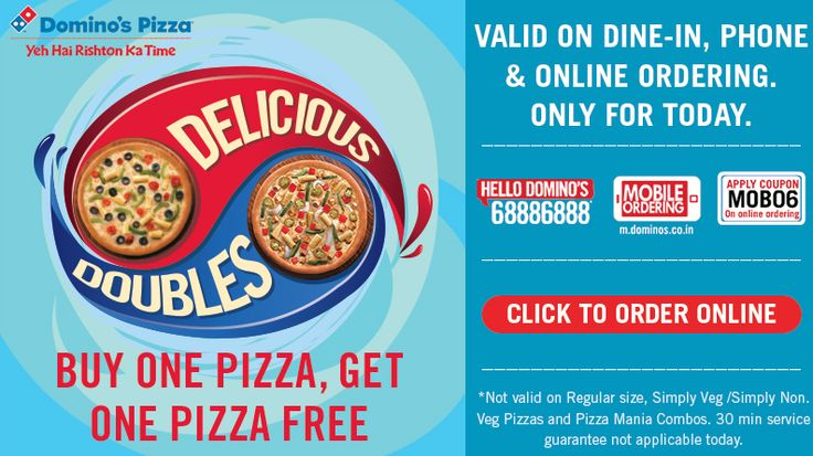 Dominos coupon code buy one get one free