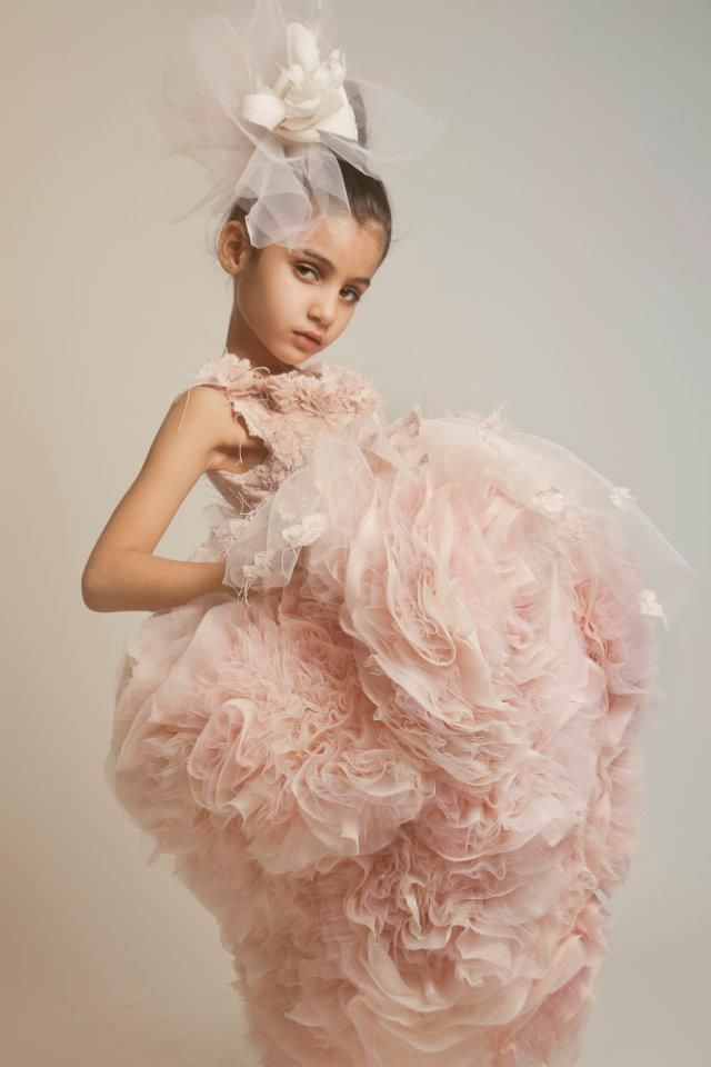 Perfect Flower girl couture from Kriktor Jabotian is it okay for my flower girls to look better than me so my flower girl dress