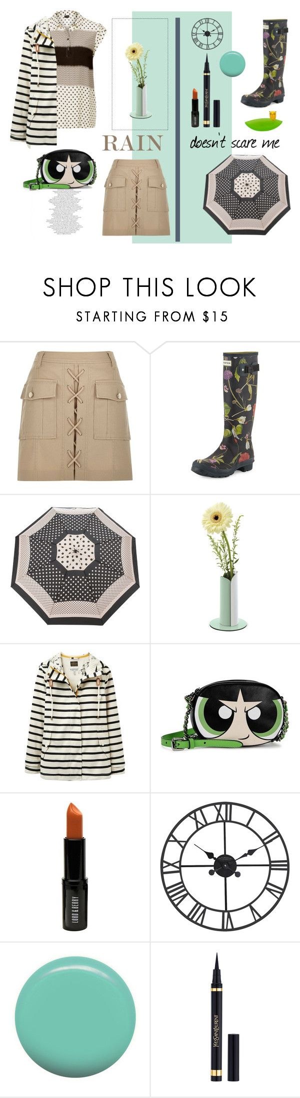 """Rainy days"" by pinfi on Polyvore featuring River Island, Hunter, Marc by Marc Jacobs, Dot & Bo, Joules, Moschino, Lord & Berry, Jin Soon and Creative Bath Products"