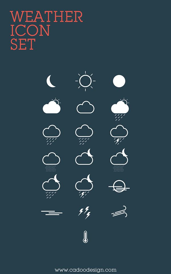 Free Weather Icon Set You can use it in both personal and commercial projects.