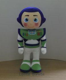 Boneco Toy Story Buzz em feltro para decoração de festa